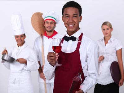 Berufsbekleidung für Gastronomie bedrucken lassen Textildruck
