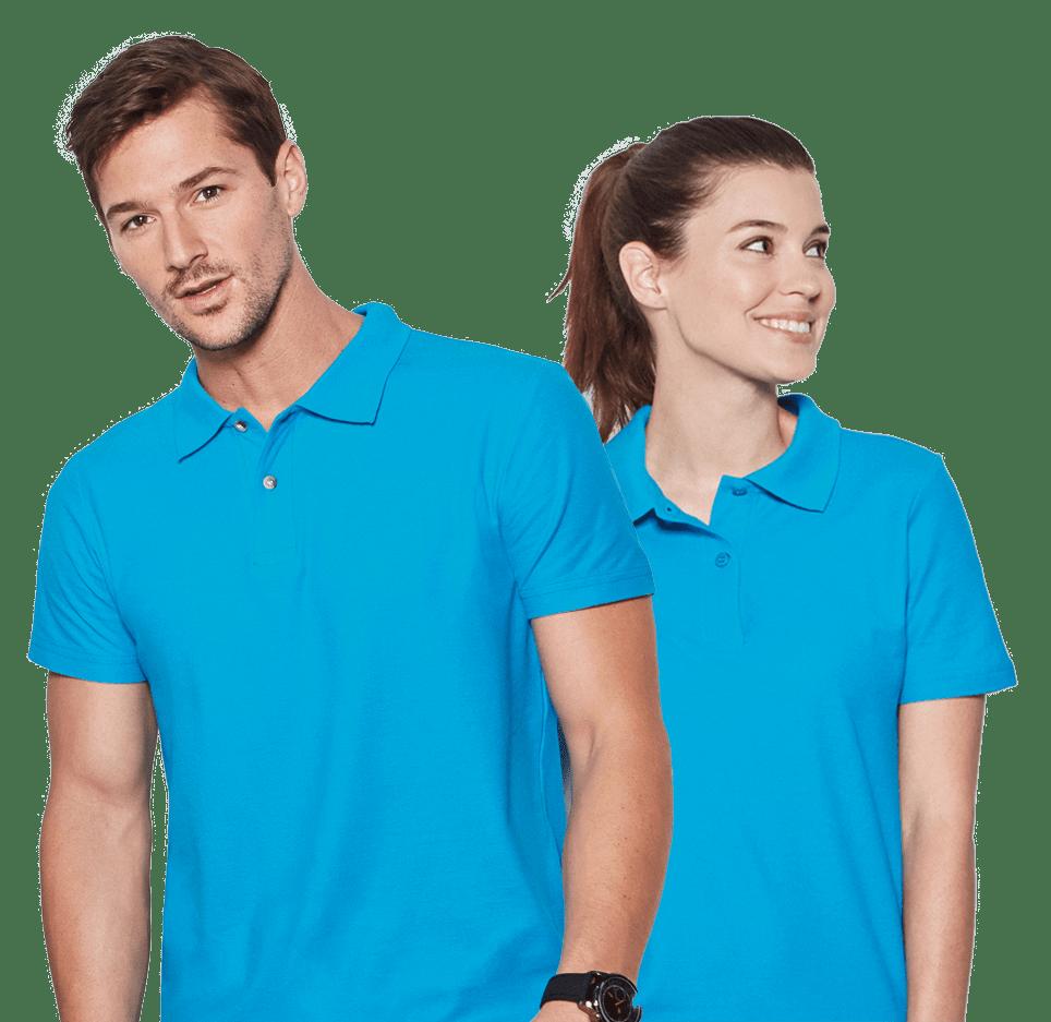 Blaue Polo Shirts