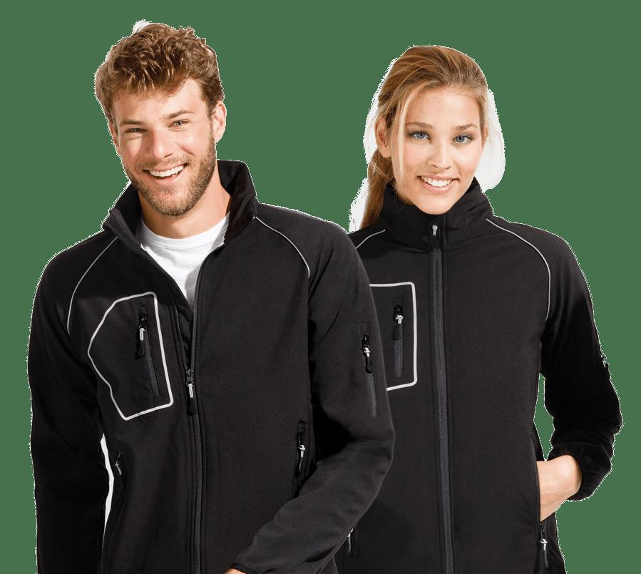 schwarze softshell Jacken